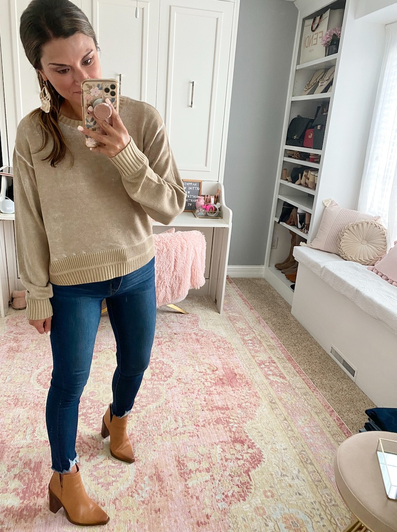 Look by Just Posted featuring Hazy Day Sweater *Online Only