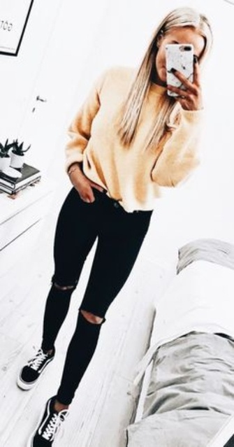 Woman's casual outfit idea. #ad #ShopStyle #shopthelook #MyShopStyle #WomansFashion #Casualwear #Vans