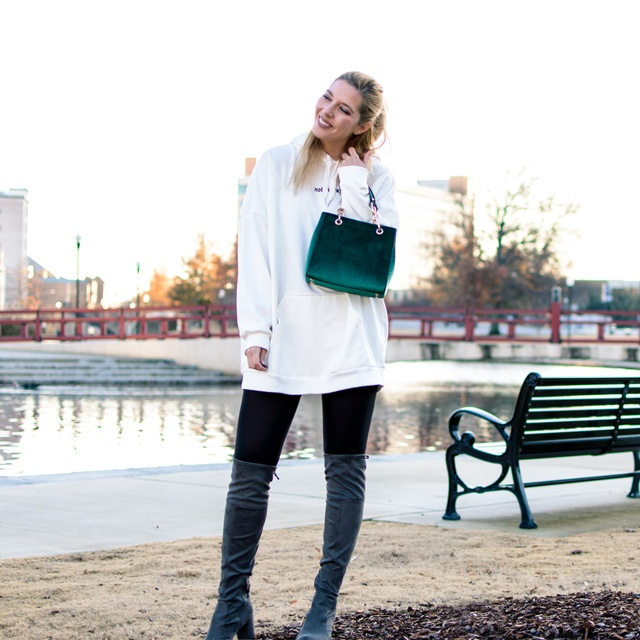 d #ShopStyle #MyShopStyle #Winter #Holiday #TrendToWatch #casual #hoodie #hoodiedress #oversized #otkboots #shoeoftheday #wiw