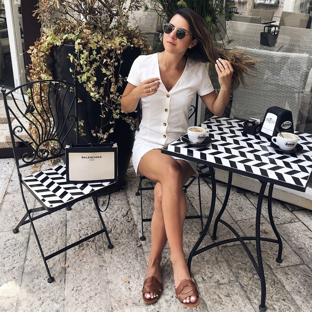izz and drinking good coffee! #shopstyle #myshopstyle #shopstylecollective #contributingeditor #mystyle #summerstyle #holiday