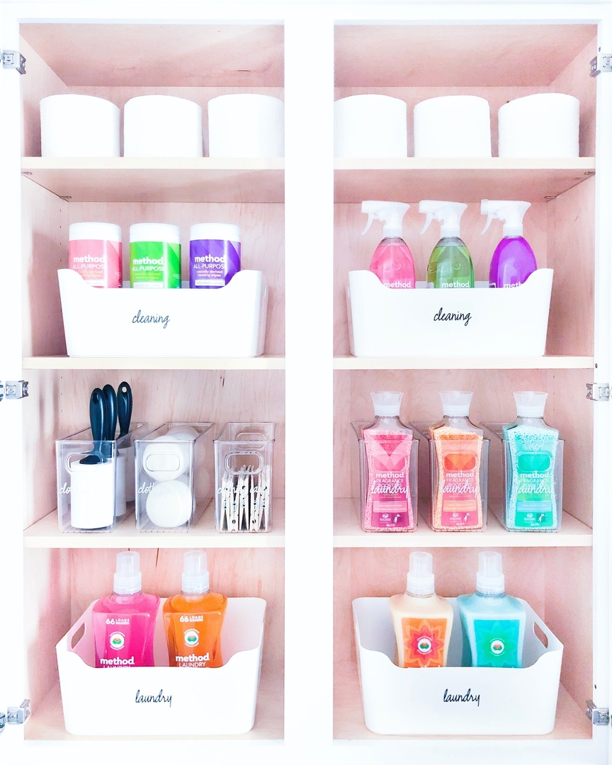Look by The Home Edit featuring White Plastic Storage Bins with Handles