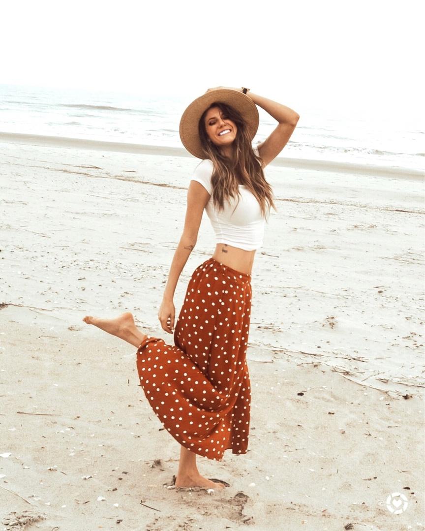 Beach Please #polkadotskirt #beachstyle #beachlife #skirtseason #springstyle #shopmystyle