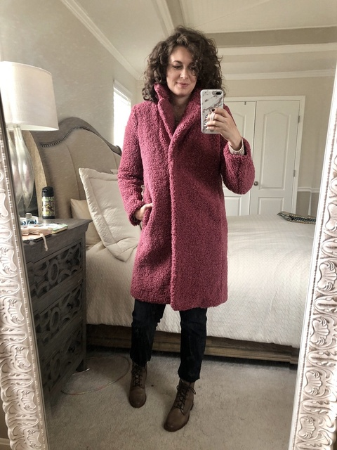 Loving this Sherpa coat from #jcrew!