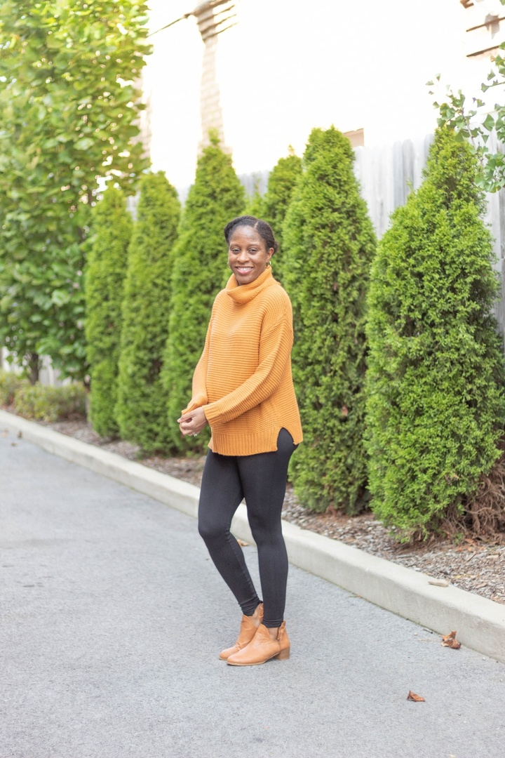 Look by Spring Davis featuring Women Turtleneck Sweater - Long Sleeve Casual Baggy Chunky Knit Pullover Sweater Tops