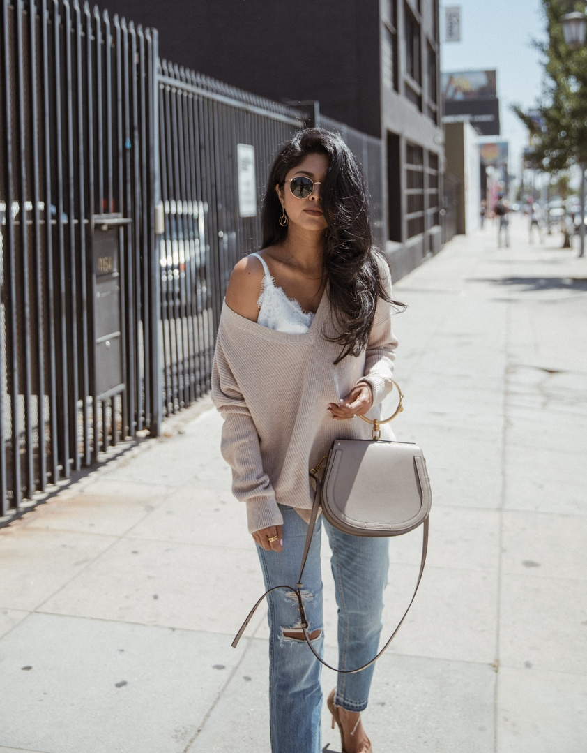 ee2136312e8 How to Style Distressed Denim for Fall