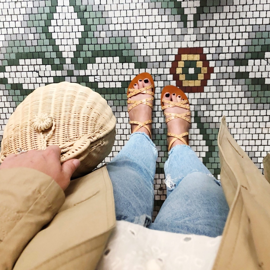 This mornings brunch look... a little different than I had originally planned #instagramvsreality because of rain and cool temps but I loved this combo none the less! // shop it with the link in my profile and ps - how about these gorgeous floors?!? 😍 #ihavethisthingwithfloors #ShopStyle #MyShopStyle #LooksChallenge