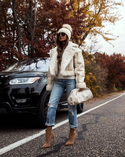 The coziest fall jacket exclusively available at Intermix  #ad #MyShopStyle #ShopStyle