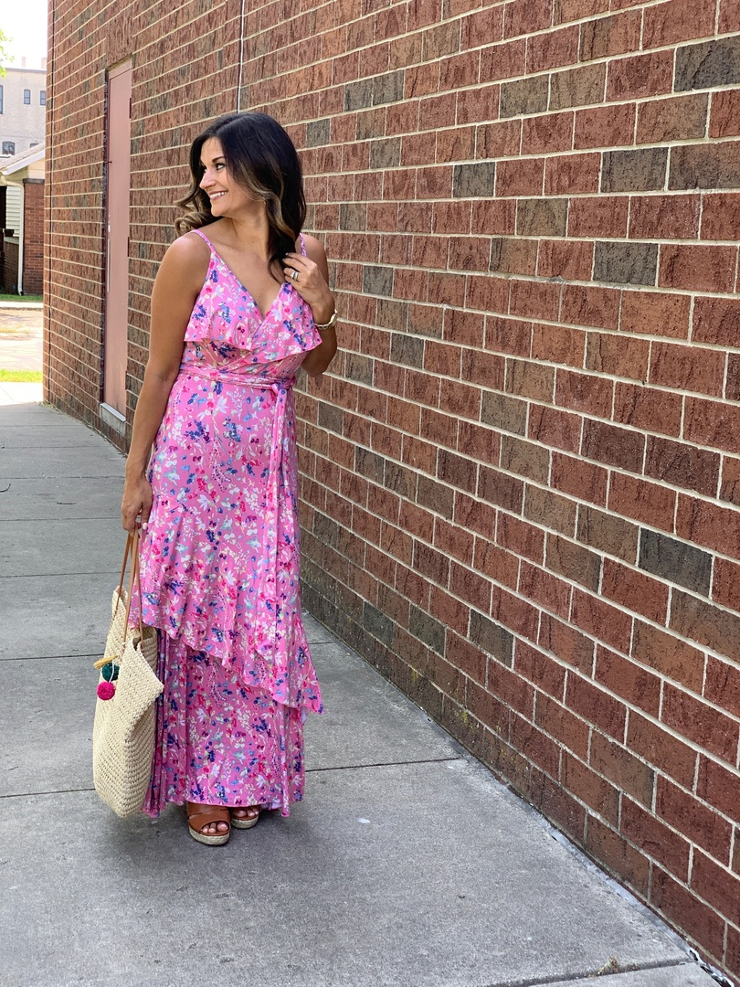 The prettiest pink maxi dress for summer #justpostedblog #ShopStyle #shopthelook #MyShopStyle #OOTD #LooksChallenge #ContributingEditor #Lifestyle