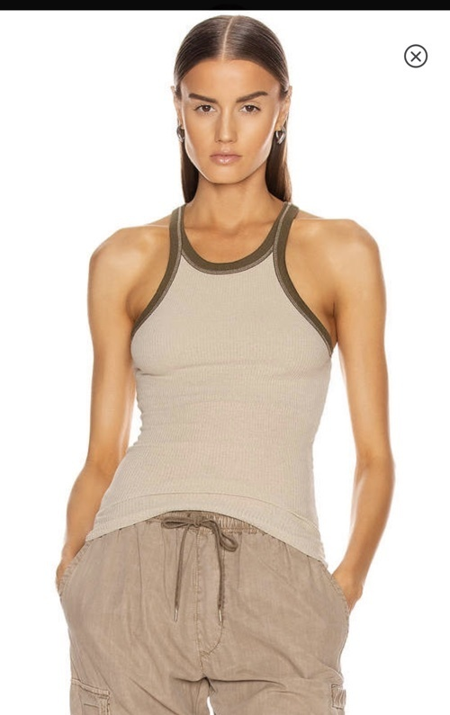 Look by Jennifer sattler featuring John Elliott JOHN ELLIOTT Silk Rib Tank Top in Mineral | FWRD
