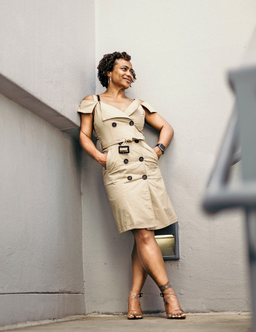 Look by talitha haynes featuring Nicole Miller Trench Dress