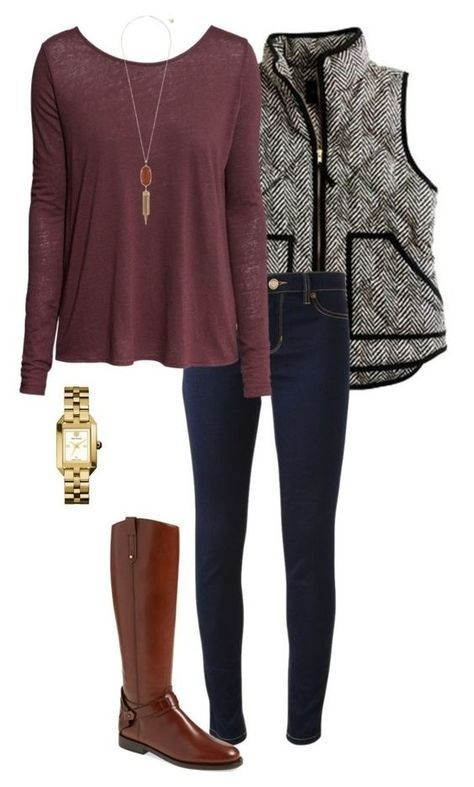 Look by Exploring life Together featuring A New Day Women's Herringbone Puffer Vest - A New Day Gray