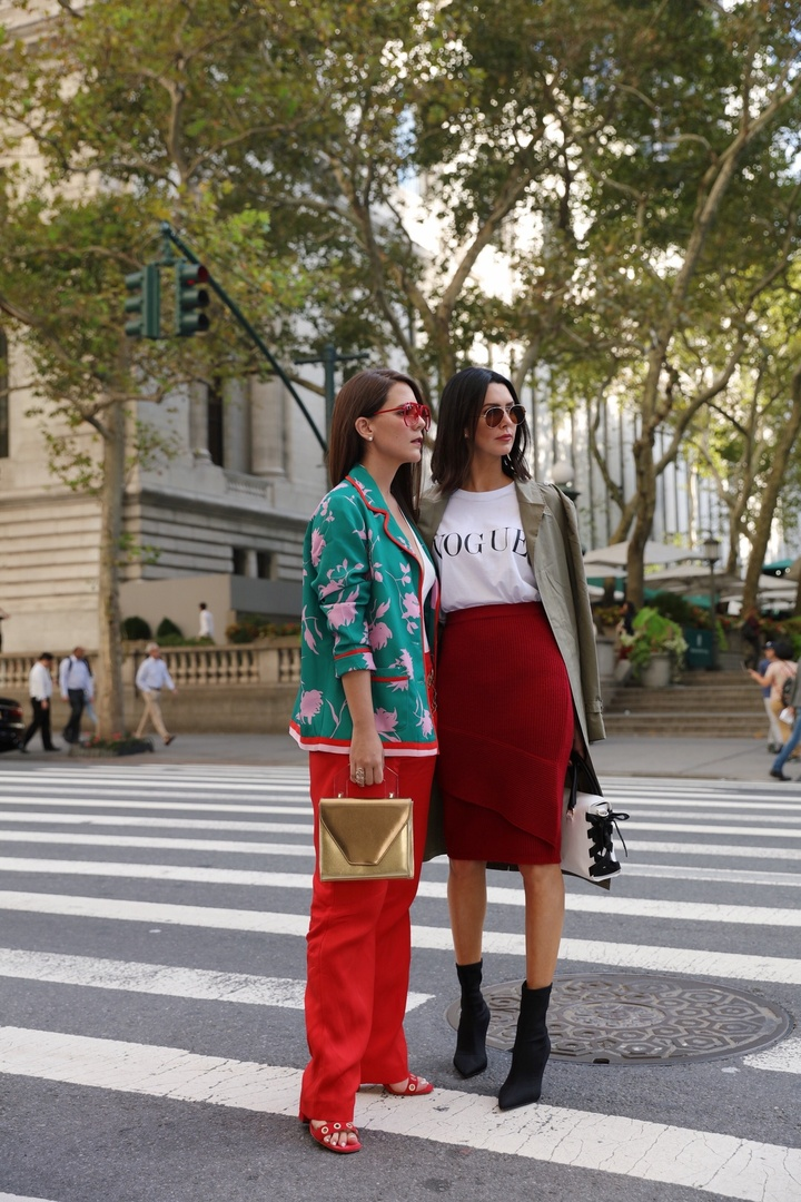 Street style from Fashion Week #streetstyle #trench #red #ShopStyle #ssCollective #MyShopStyle #ootd #fallfashion #mylook #lookoftheday #currentlywearing #todaysdetails #getthelook #wearitloveit #shopthelook