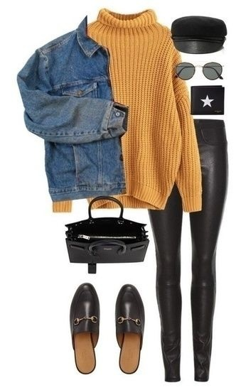 Look by Exploring life Together featuring Turtleneck Cable Knit Pullover Sweater