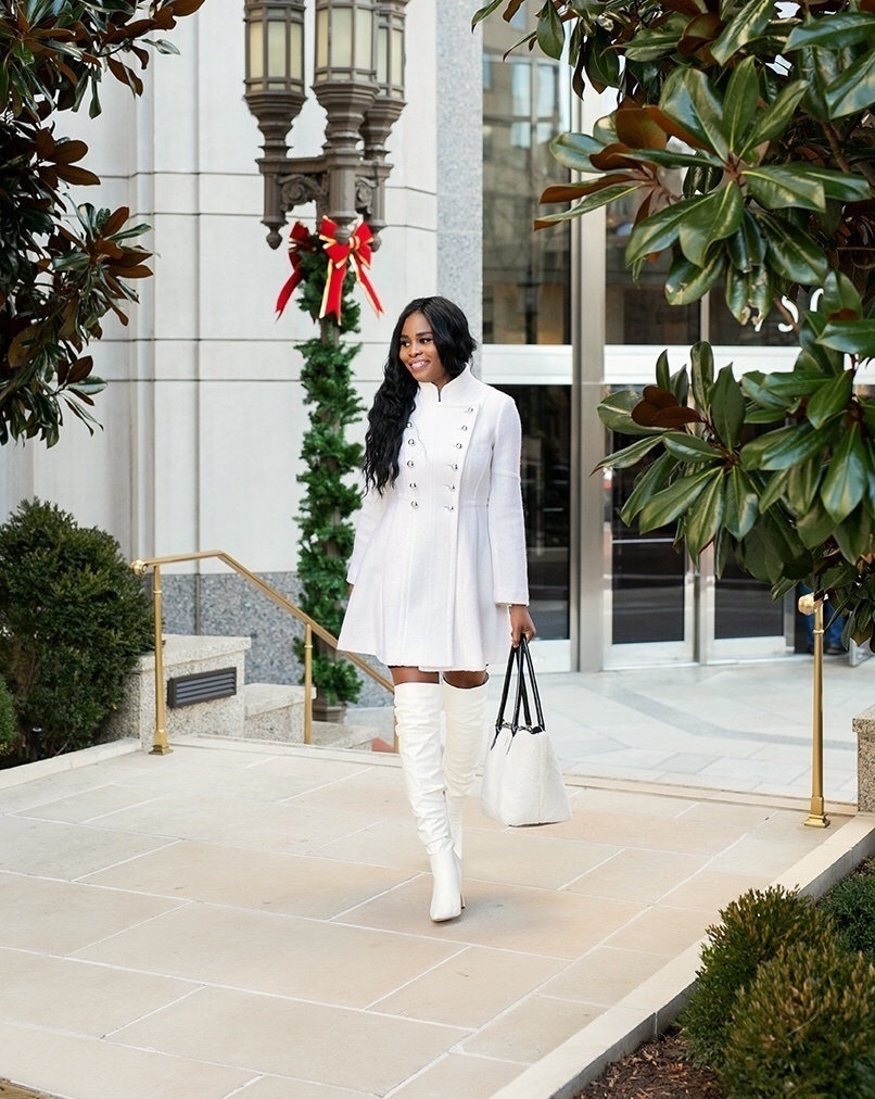 Look by Glam2Greatness featuring Guess Double-Breasted Skirted Coat