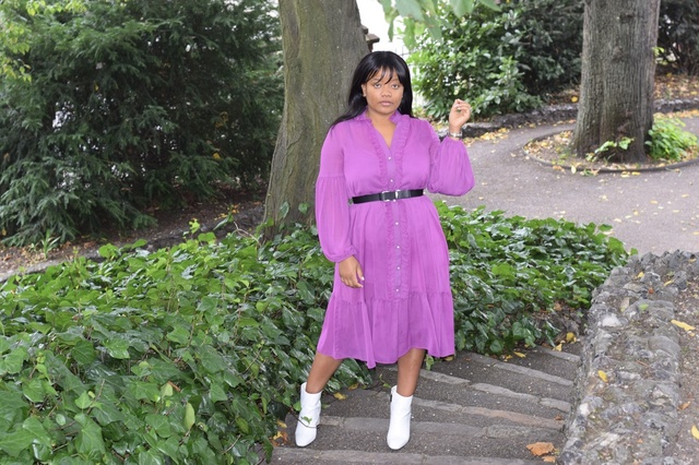 Purple in Fall - Yes Please #riverisland #frilldress #charleskeith #MyShopStyle #ShopStyle