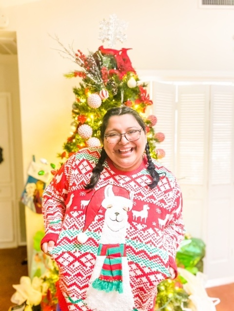 adorable llama sweater by @ardene! Both links are in my #LinkInBio. #ShopStyle #Winter #Holiday #Party #UglyChristmasSweater