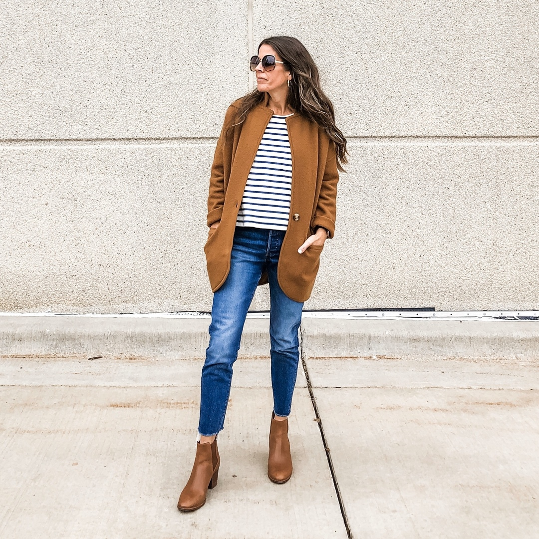 Look by madstylestudio featuring Madewell Saville Sweater Blazer