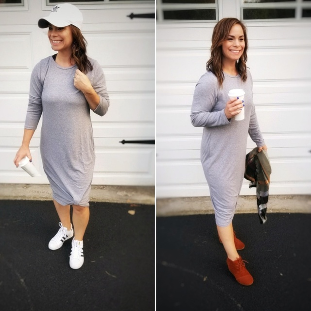 Midi dress for fall!