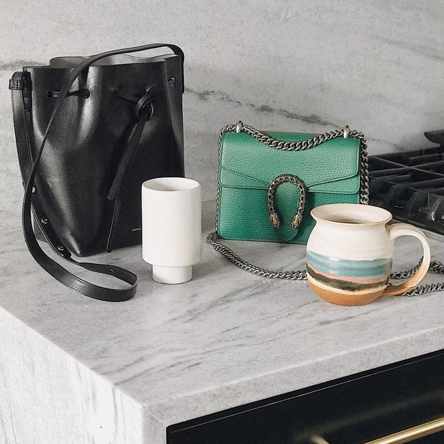gucci emerald green dionysus shoulder bag & mansur gavriel bucket bag  #guccidionysus #mansurgavriel