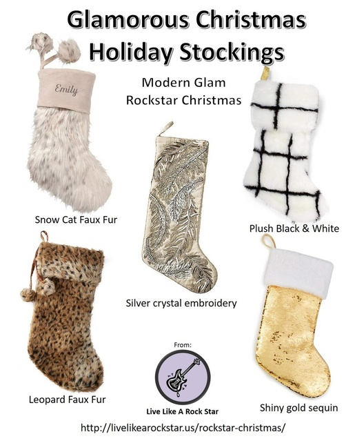 Glamorous Christmas Holiday Stockings