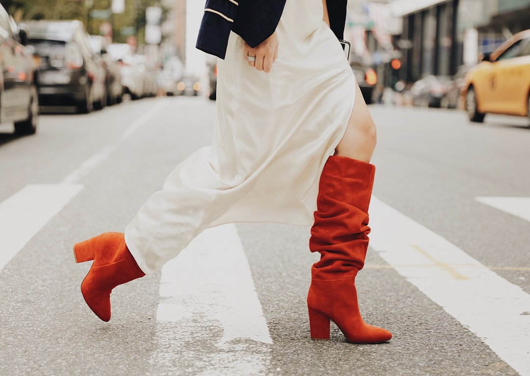 Red Slouchy Boots for NYFW #falltrend #slouchyboot #slouchyboots #red #ninewest #nyfw #newyorkfashionweek #boots # #ootd #lookoftheday #getthelook