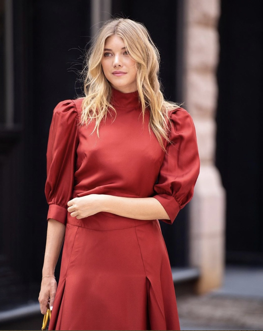 Look by HonestlyKate featuring Reformation Josefine Silk Minidress