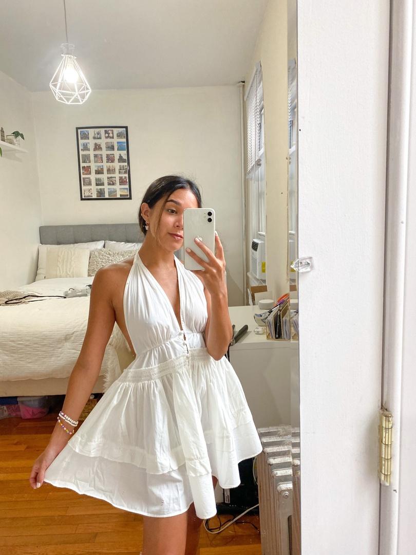 #petite #freepeople #whitedress #tunic #latina #summerdress