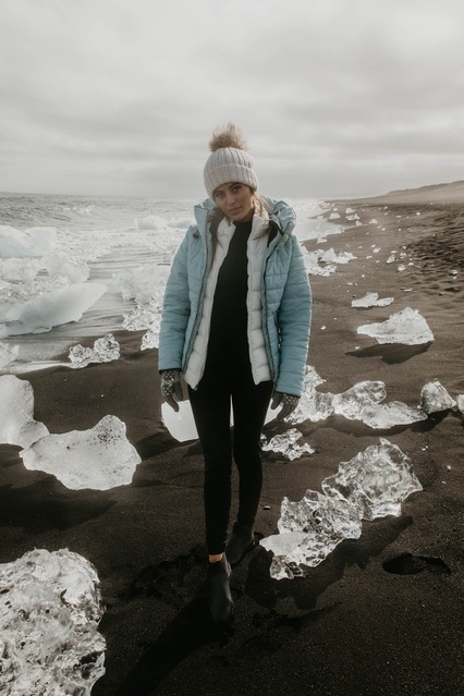 #Winter #Vacation #Travel #Petite #Beauty #ShopStyle #iceland #diamondbeach
