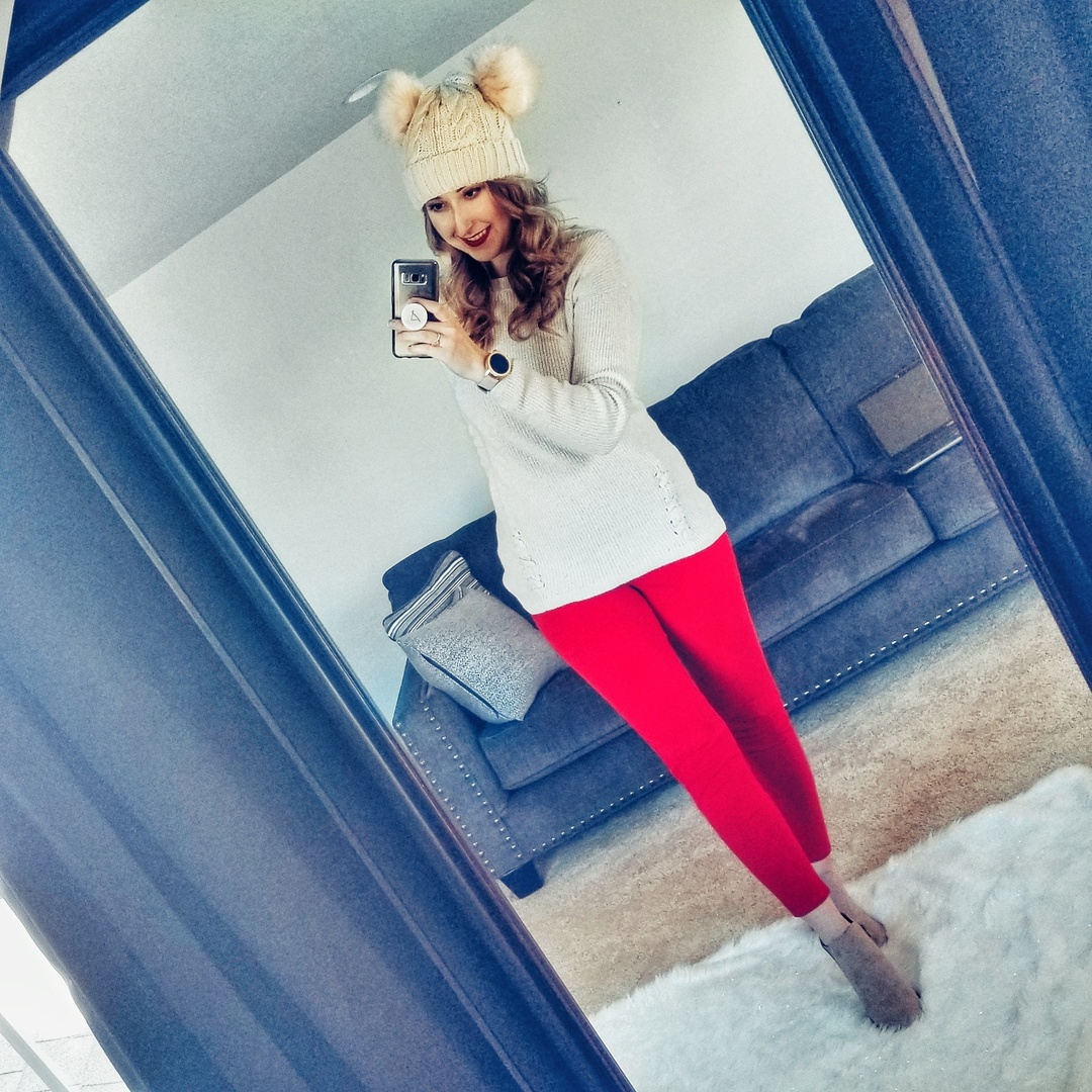 Look by xoamela featuring Women's Winter Cable Knitted Faux Fur Double Pom Pom Beanie Hat with Plush Lining.