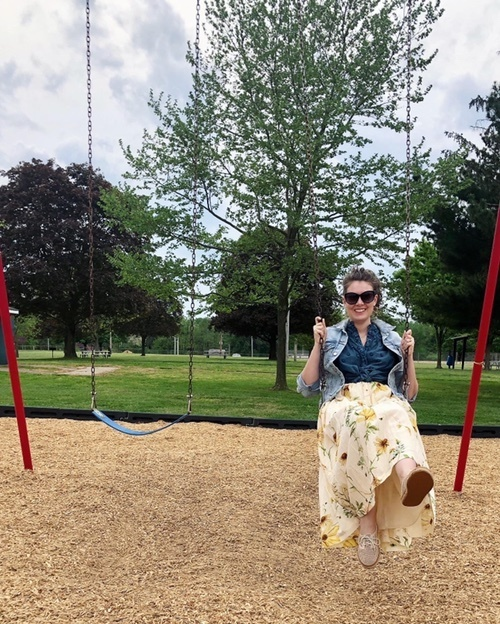 This H&M organic cotton skirt is perfect for swinging at the park.