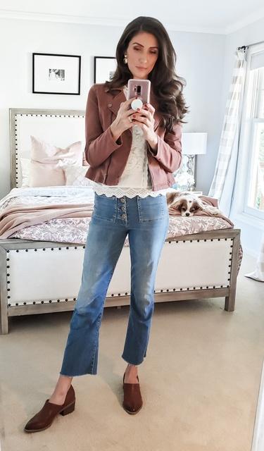 GUESS Womens Faux Leather Zip Front Scuba Jacket