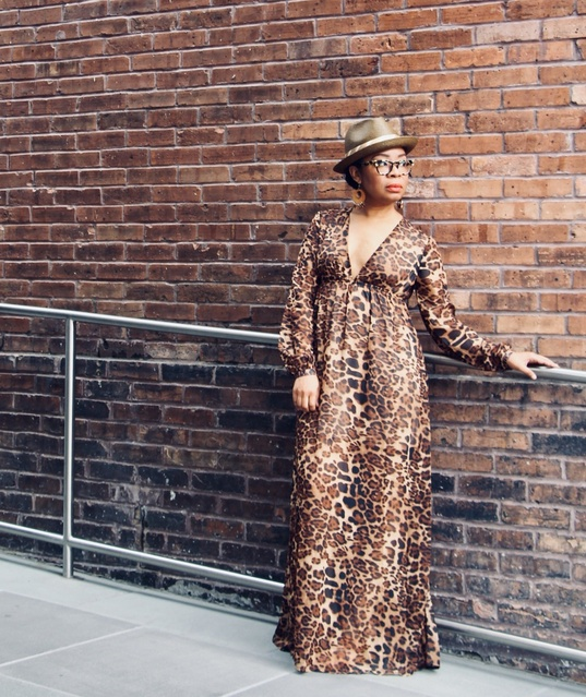 "u look fantastic!"" while I was wearing this dress.    #ShopStyle #Fall #FallFashion #Party #MyShopStyle #maxi #dress #leopard"
