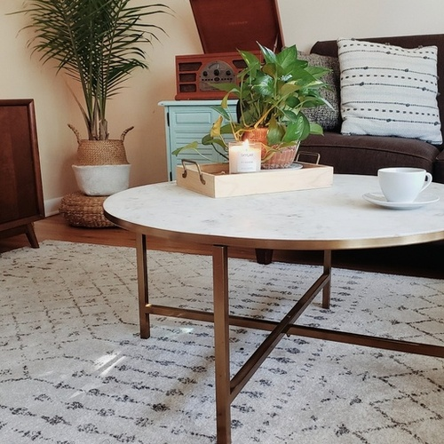 Boho mid mod living room