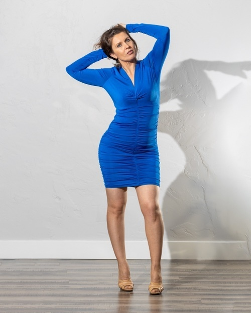 wear your feminine side with pride! #cobaltdress #royalblue #bluedress #nudeshoes #feminine #MyShopStyle #Party #TrendToWatch