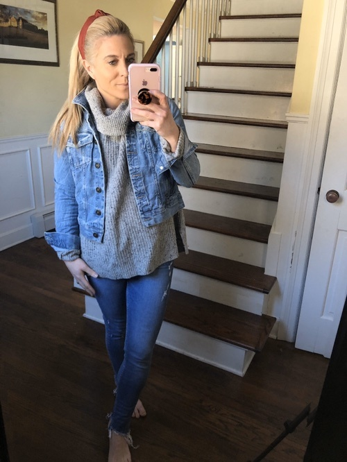 Look by Audrey McClelland featuring Old Navy Jean Jacket For Women