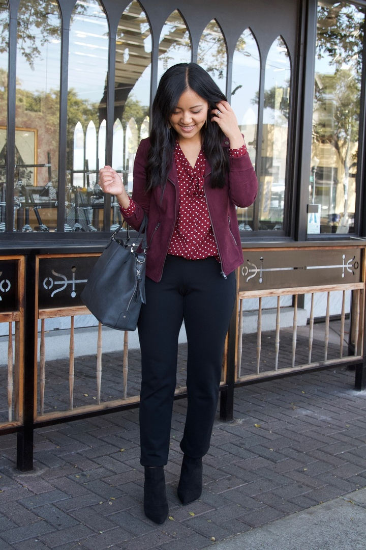 How Moms Get Dressed in No Time, black slacks + cardigan, ShoptheKei.com