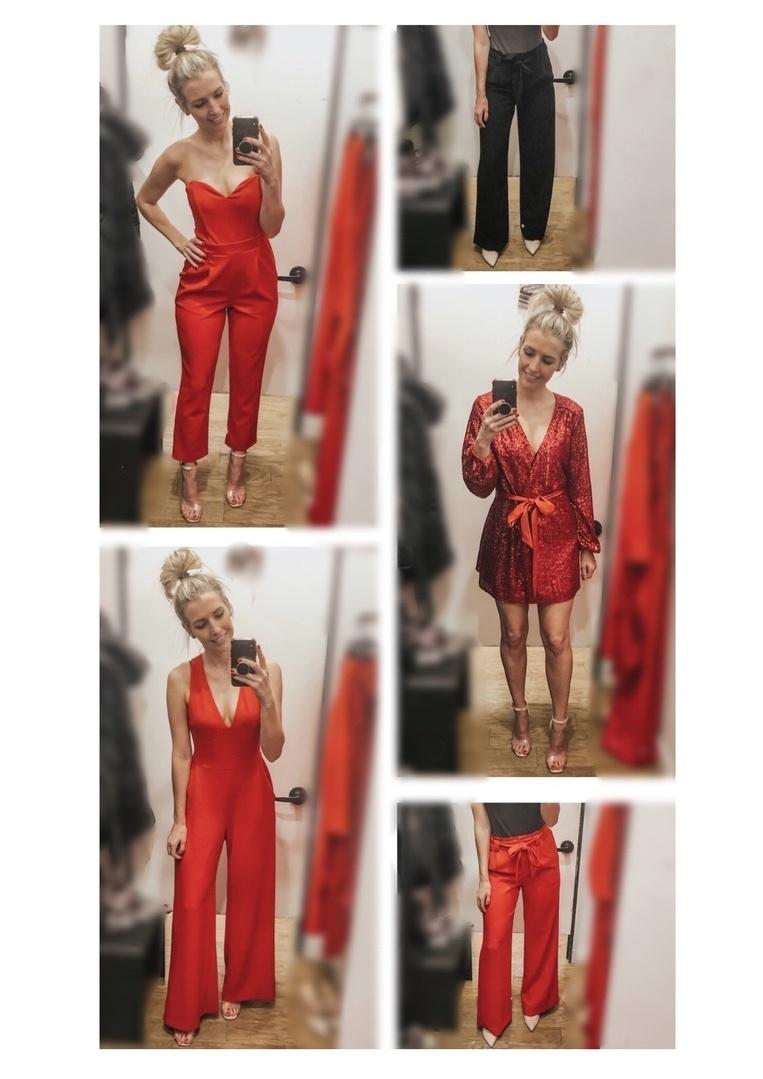 Look by Marla Gustafson featuring Express Olivia Culpo Surplice Sequin Dress