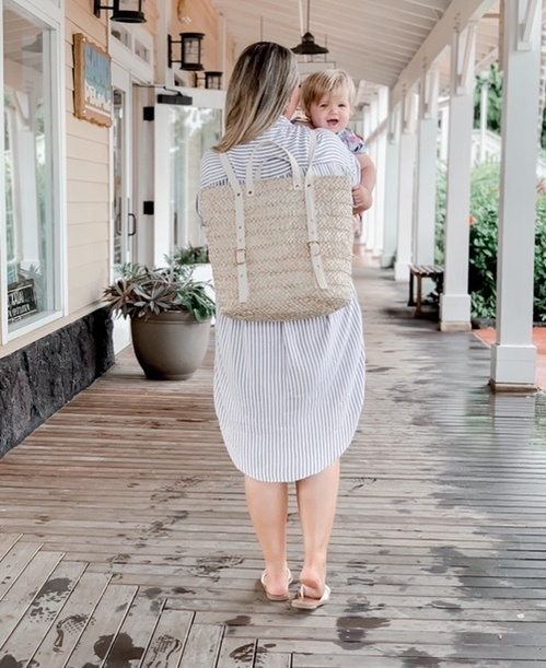 s linked instead! And I loved this backpack for vacation! Perfect for moms who need their hands free for holding little ones.