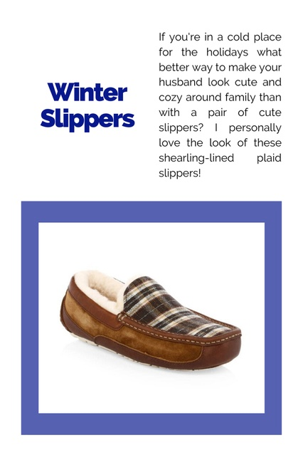 f these shearling-lined plaid slippers! #ChicItinerary #GiftGuides #GiftsforGuys #Presents #ForDad #ForHusband #Holiday #Mens