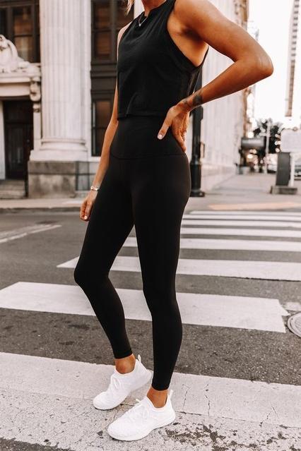 s #whiterunningshoes #blacksportsbra #blackleggings #ShopStyle #MyShopStyle #LooksChallenge #Fitness #Lifestyle #TrendToWatch