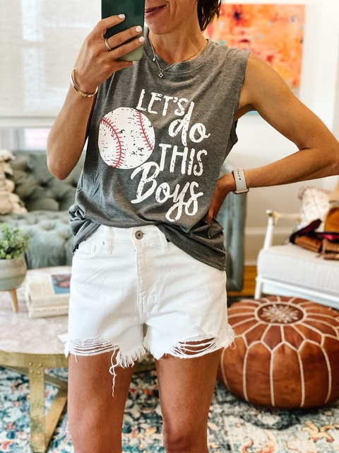 me wearing this tee.. but also aren't all 12 year olds embarrassed by their parents at some point?!  #MyShopStyle #ShopStyle