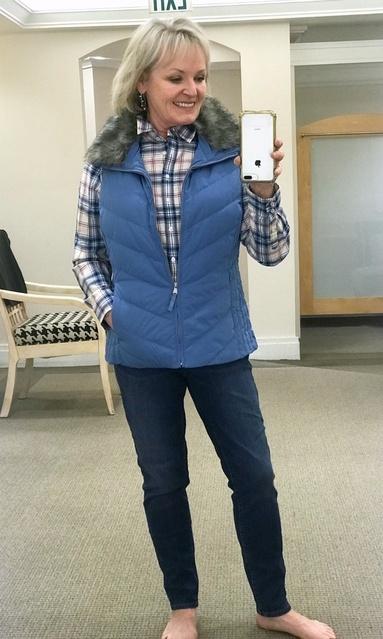 t, plaid and pull-on jeans #awellstyledlife #fallfashion #fashionover50 #ShopStyle #MyShopStyle #Winter #TrendToWatch #Petite