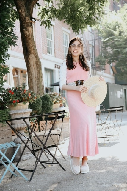 dress for every day and in-between seasons! #ShopStyle #MyShopStyle #LooksChallenge #Vacation #pinkmidi #mididress #maxidress