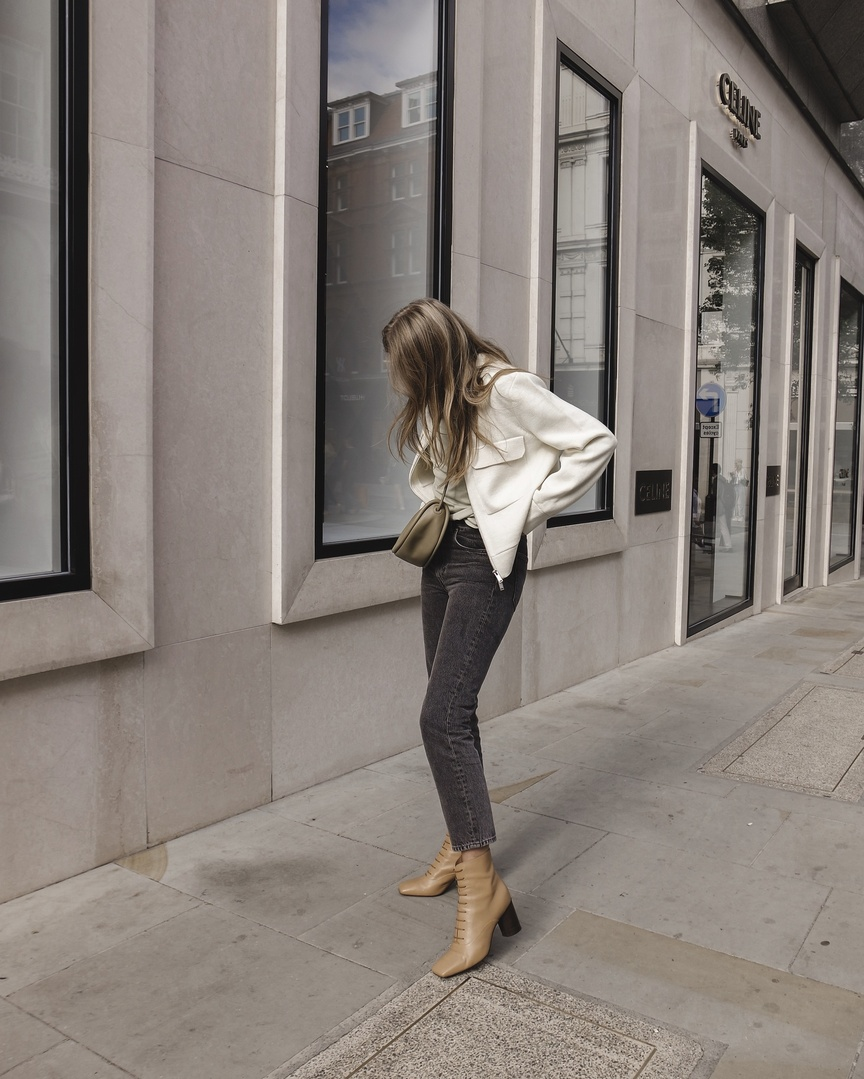 Fashion Look Featuring Pieces Earrings And Arket Straight Denim By Lovestylemindfulness Shopstyle