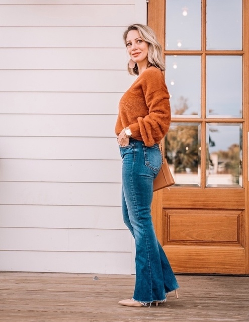 e hem and they're under $100! My fuzzy sweater is on sale 40% off and comes in a rainbow of colors. #lovelife #inspiremore