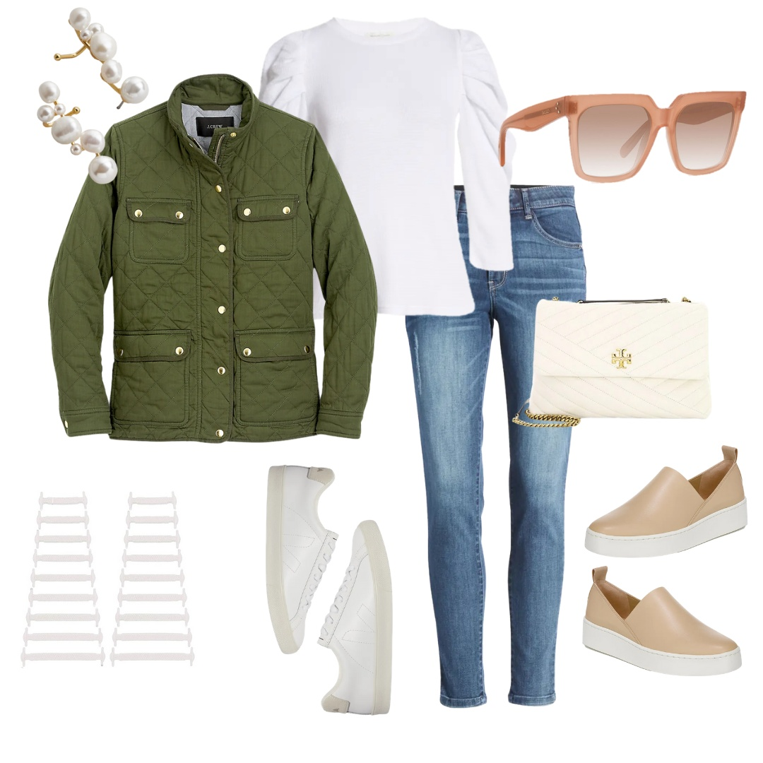Look by Willow Crowns At Home featuring Quilted downtown field jacket