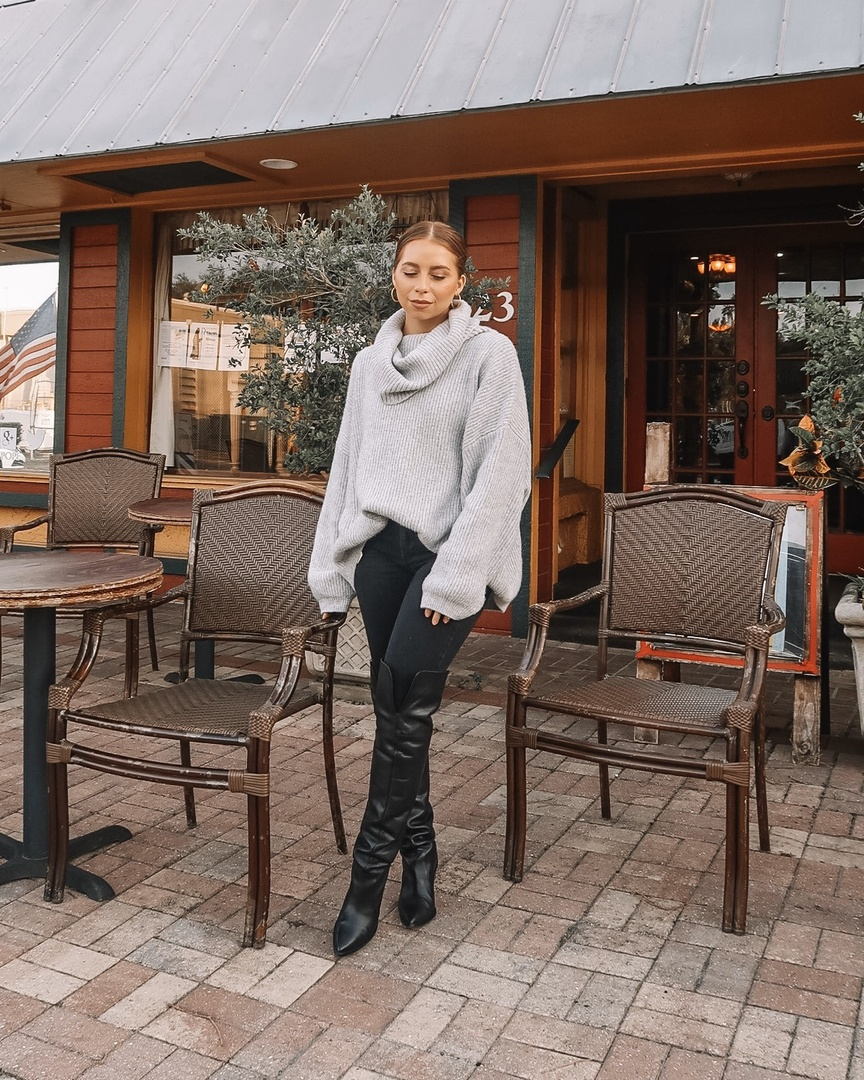 Cozy for the winter! Turtlenecks and over the knee boots are a must! #ShopStyle #MyShopStyle #LooksChallenge