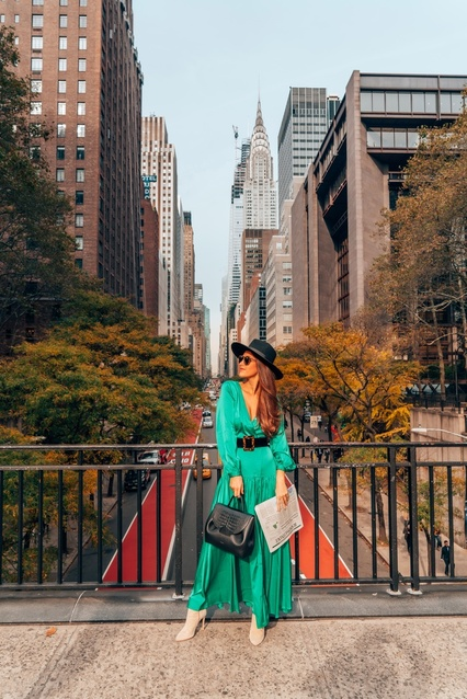 r @shopreddress    #RedDressAmbassador #ChicItinerary #NYCFashion #Greens #ShopRedDress #ShopStyle #MyShopStyle #TrendToWatch