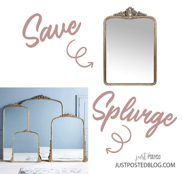 ave option for this popular Anthro mirror! The splurge is available in a few sizes, and I have and love the 7' large splurge!