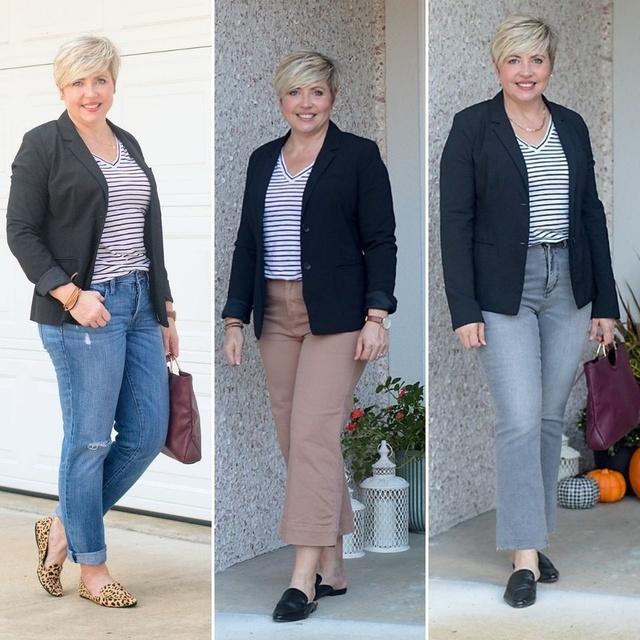 One blazer + one top = 3 looks #ShopStyle #MyShopStyle #fallstyle #blazeroutfits